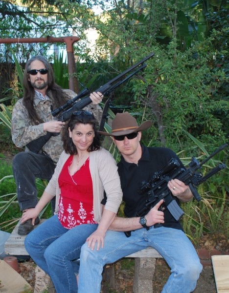 I get pregnant, they get their guns. Go figure...