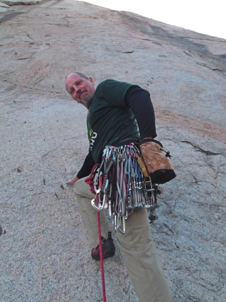 ClimbAddict chalkbag breaking in. Thanks Terrie!
