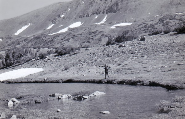 Alger Lakes 1974 (I think Randy is fly fishing)