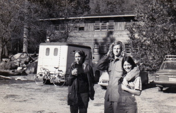 Laurie Stuart, Randy Hamm and Myself in front of Degnan's Dorms