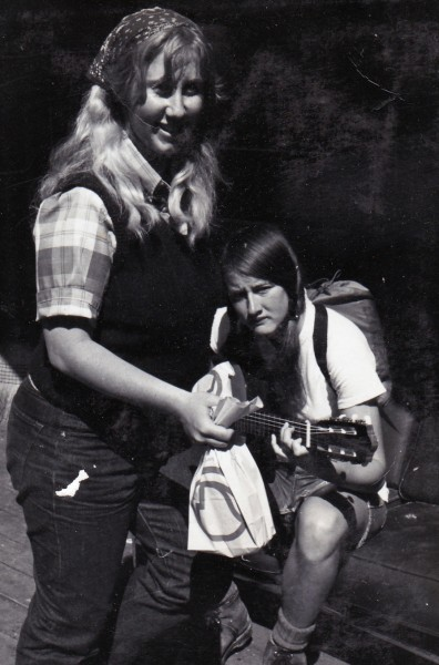 Debbie Bird and Terry Altman at Degnan's dorms about 1971