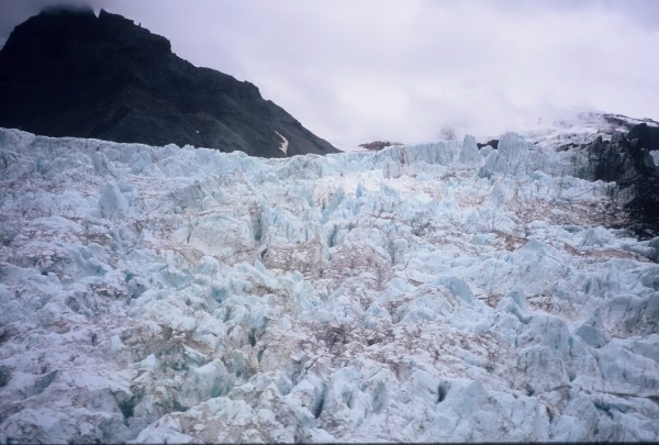 Kingcome Glacier icefall. Wouldn't want to ski through this.