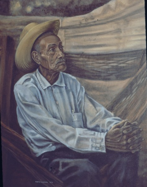 Don Liborio, our guide, San Blas, Nayarit. oil on canvas 1975