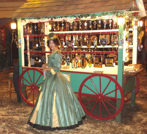 Skip at her Dickens Fair booth