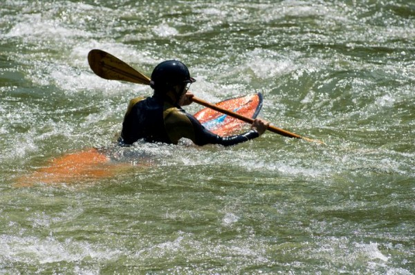 A squirt boat = underwater kayak