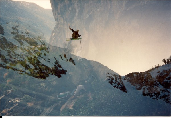 Somehow these two pics showed up as one.  climbing and skiing in the s...