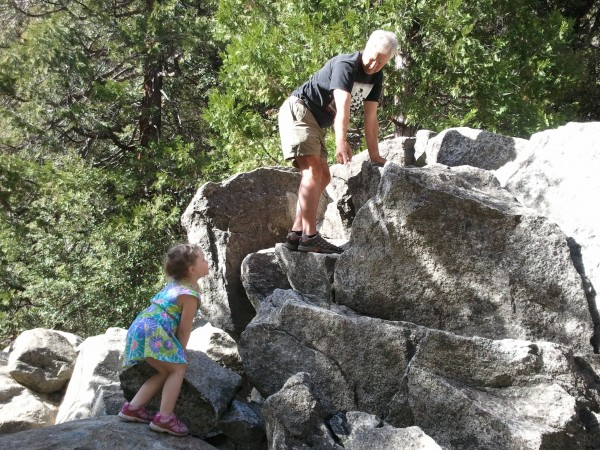 Camila's second climbing lesson in Yosemite, guided by the multi-talen...