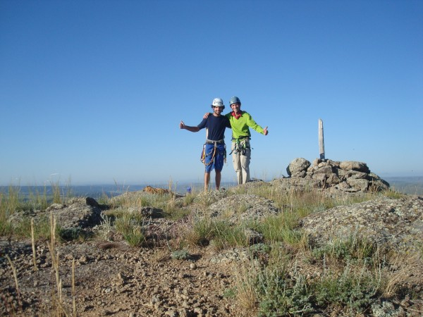 Me and my guide, Felipe (left), after a successful early-morning ascen...