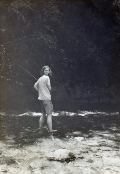 Speakin' of Soquel Creek--here is Randy fly fishin' and smokin' pipe &...