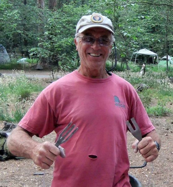 Solution to bad bolts - Roger and his superior tuning forks.  Made fro...