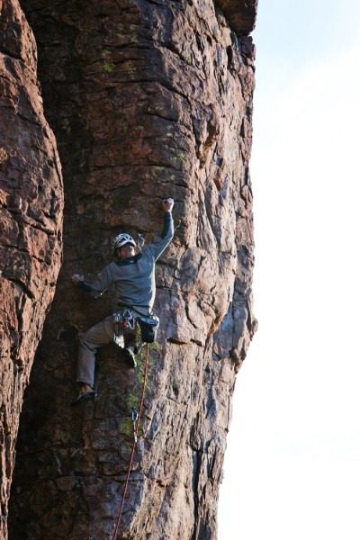 Here is D'Arthur on a hard climb 12a-ish...