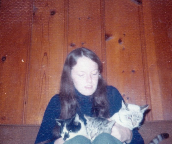 Dolores with Priscilla, Ziggy and Spot