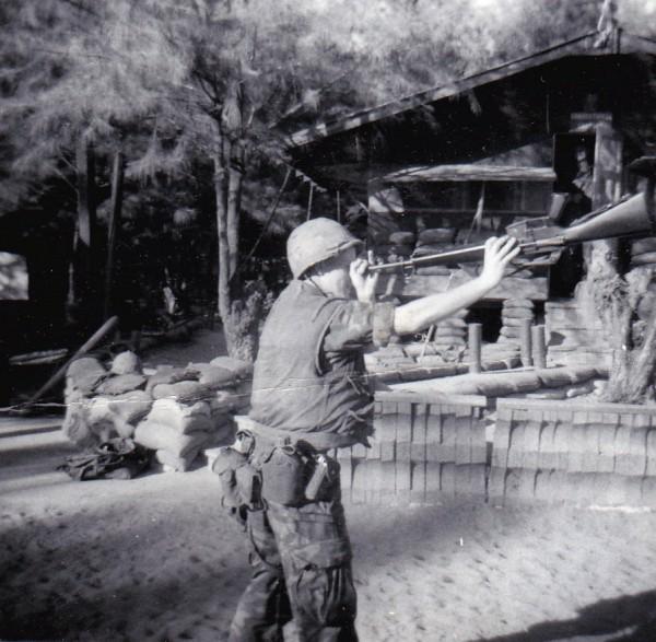"""America's """"finest""""  1969 Randy U.S. Marine in Chu'lai, Viet Nam"""
