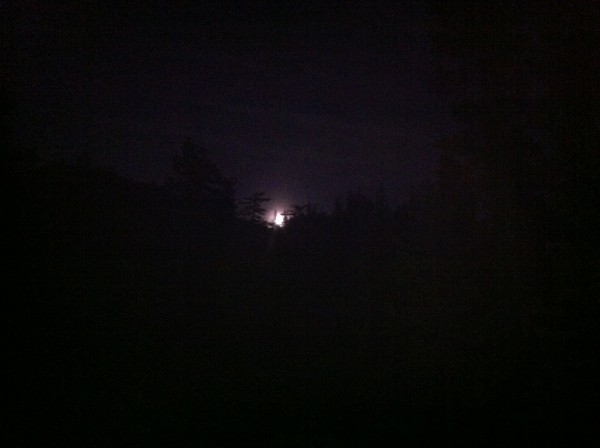 The moon coming up over the mountain was a cool.