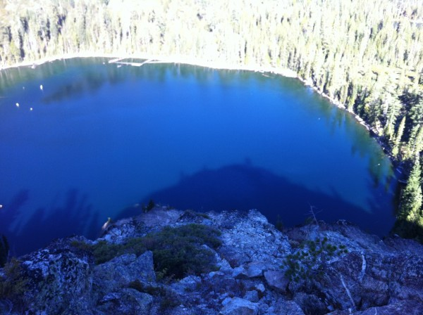 Looking back down to Cliff Lake