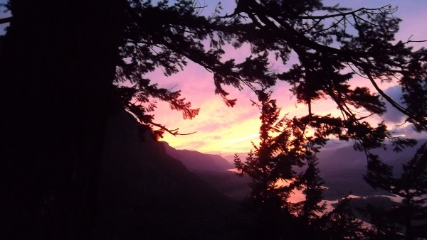 Awesome sunset. Glad I brought the headlamps for the hike down.