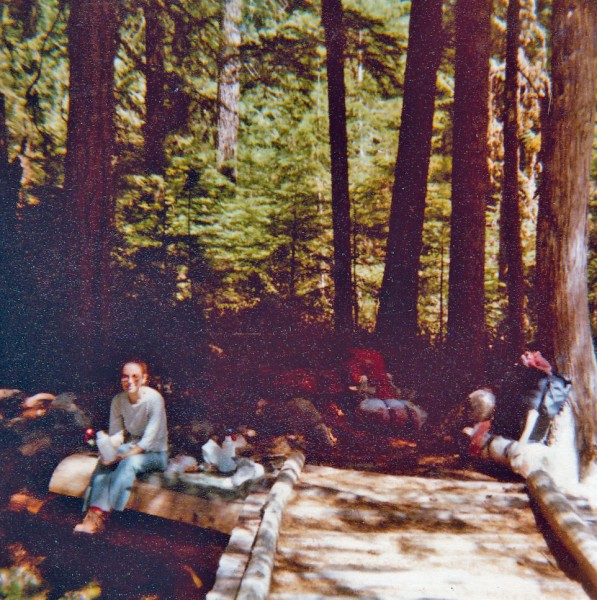 Sheila Slattery (and my son in right corner) on a backpacking trip we ...