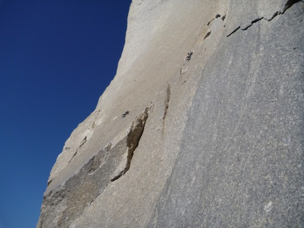 How close I got to the belay before running out of rope