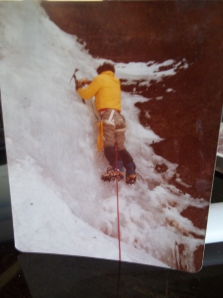 Tom May-  Kirkwood 78.  Alpine Hammers and shortie axes.