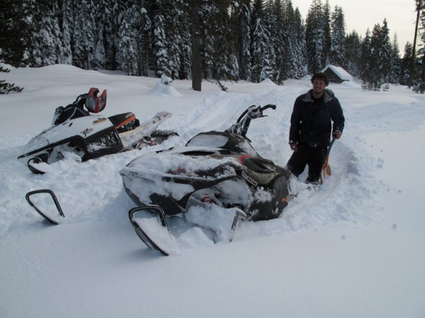 Got a lot of practice at digging out my sled