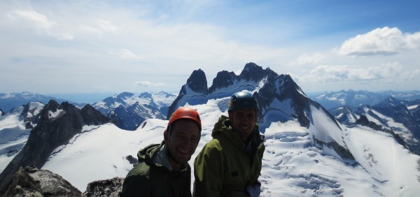 Bryan and I on the summit of Bugaboo Spire
