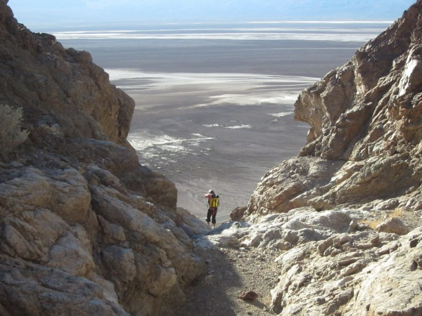 Looking at Badwater from Helios, Death Valley.