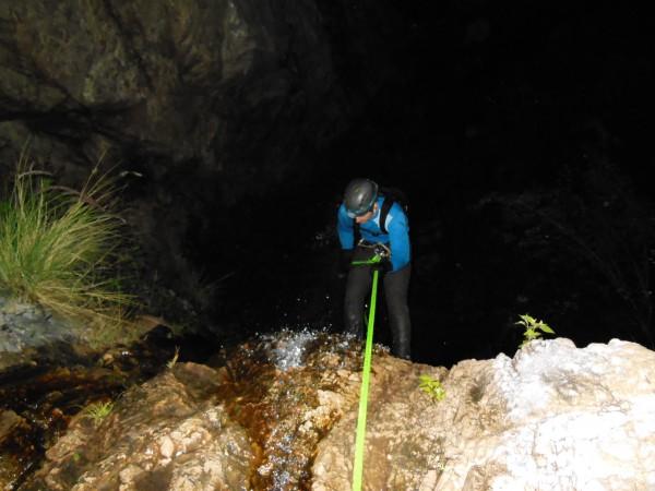 Night Canyoneering at Rubio Canyon