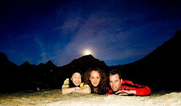 With Alice and Tom, with the moon rising in the background...  <br/>