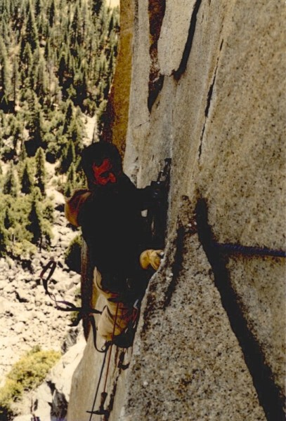 Ian, somewhere in Yosemite, maybe early 80's