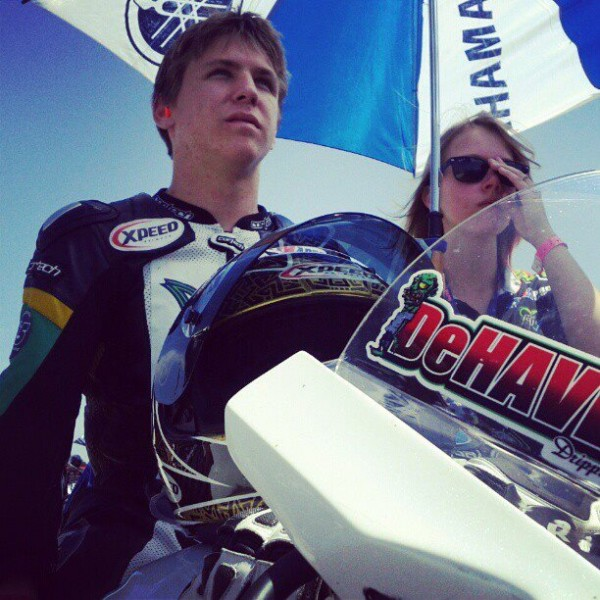My son here on the pre grid at Infineon 2012