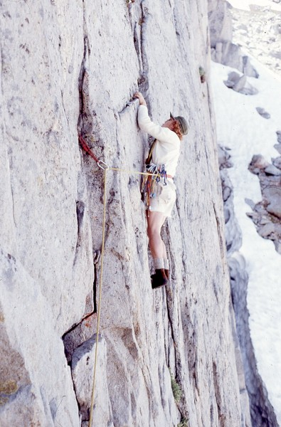 KL on Gilpin Wall, FA Zirkel Wilderness, CO 1974