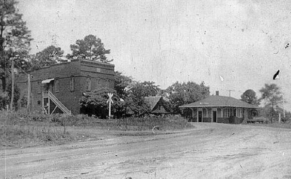 The Midland Masonic Hall & Mercantile Store and the Midland Train Depo...