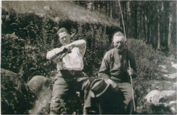 Fishing - Great grandfather Lauritz on the right