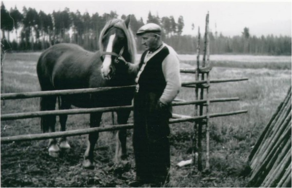 Grandfather Martinius with Trond
