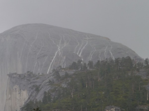 Half Dome as a water shed