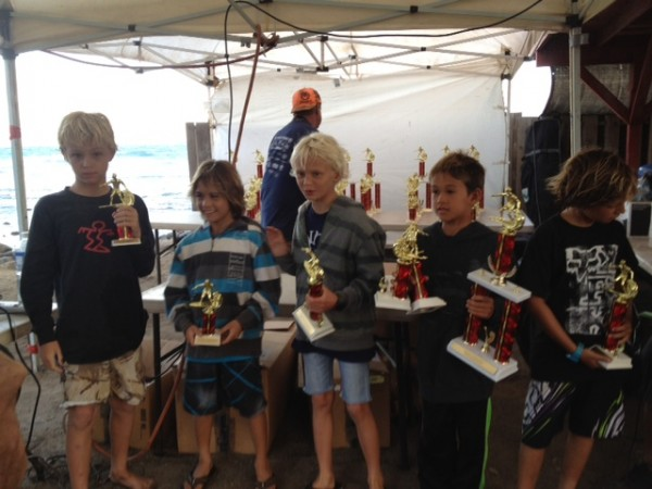 Axel Rosenblat 2nd place in 12 and under division at the Kalakaloa sur...