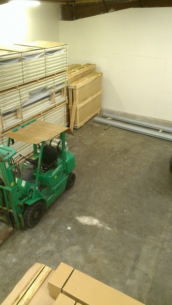 We had a fork lift. Thank God!