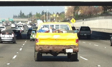 Custom Cedar Bumper, I-680, northbound