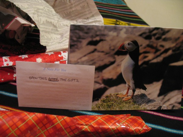 The card is fantastic....An Atlantic Puffin. It was my husband Dan's f...