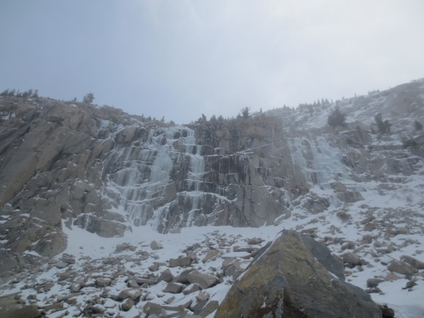 Main Wall and Chouinard falls 12/16/2012