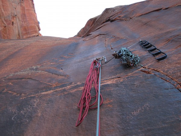 Pitch 6 belay