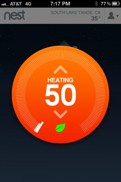 Controlling my thermostat from my iPhone.
