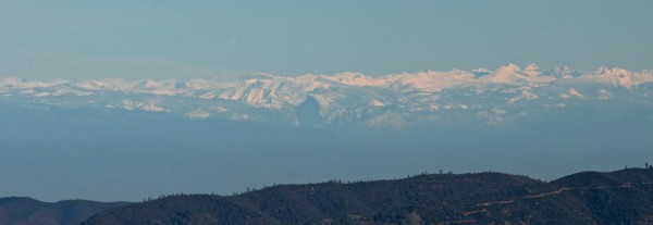 Half Dome from Lick Observatory on Mt Hamilton. 300mm lens, image crop...