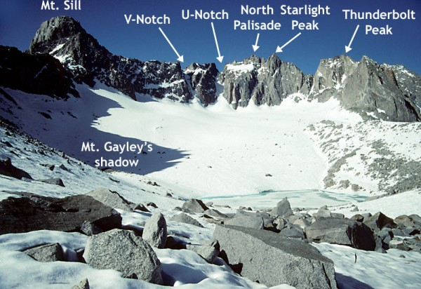 Palisade glacier in early July
