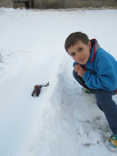 Ladd with his Lego Superpipe Cutter :-)