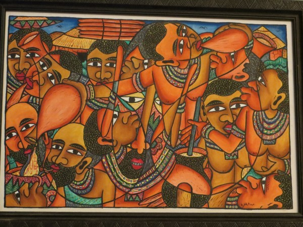 Masai Painting of Blood and Milk Drinking