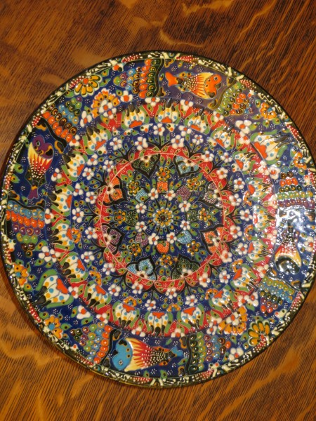 Ceramic Plate from Istanbul, Turkey