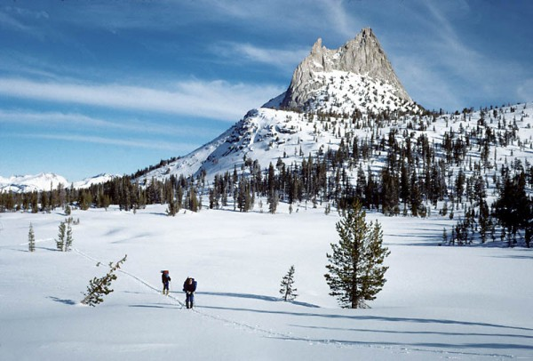 Cathedral Peak on January 1st, on a 10-day traverse of the High Sierra