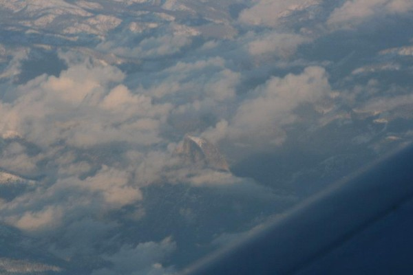Half Dome from about 30,000 feet on my way to Oregon.