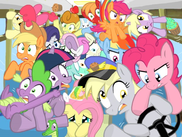 Pictured above: This thread, now that ponies have the wheel. <br/>